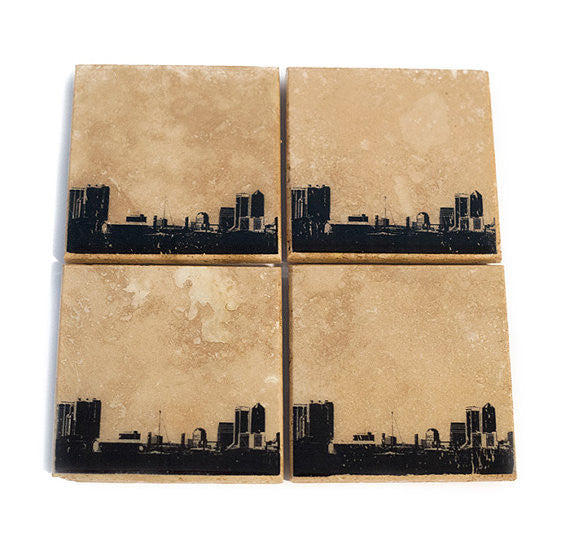 Jacksonville Skyline Coaster Set