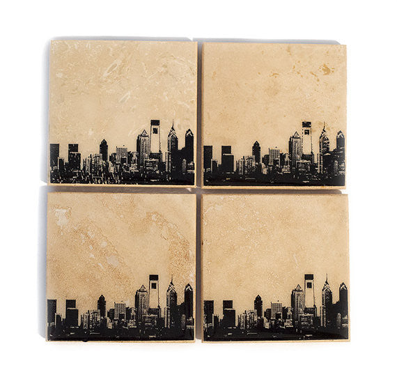 Philadelphia Skyline Coasters
