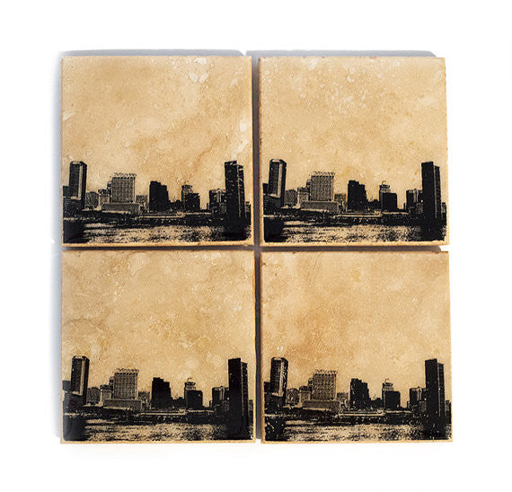 Baltimore Skyline Coaster Set