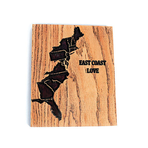 East Coast Love Wood Sign