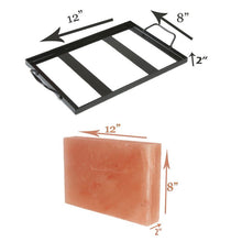 "Load image into Gallery viewer, Himalayan Salt Cooking Plate  12"" x  8"" x 1.5"" (Rectangle)"