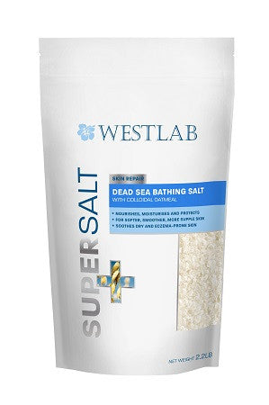 Dead Sea SuperSalt for bathing with Colloidal Oatmeal, Lavender and Chamomile (Heal, Protect, Soothe and Relax)