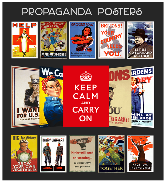 War Propaganda Poster Packs