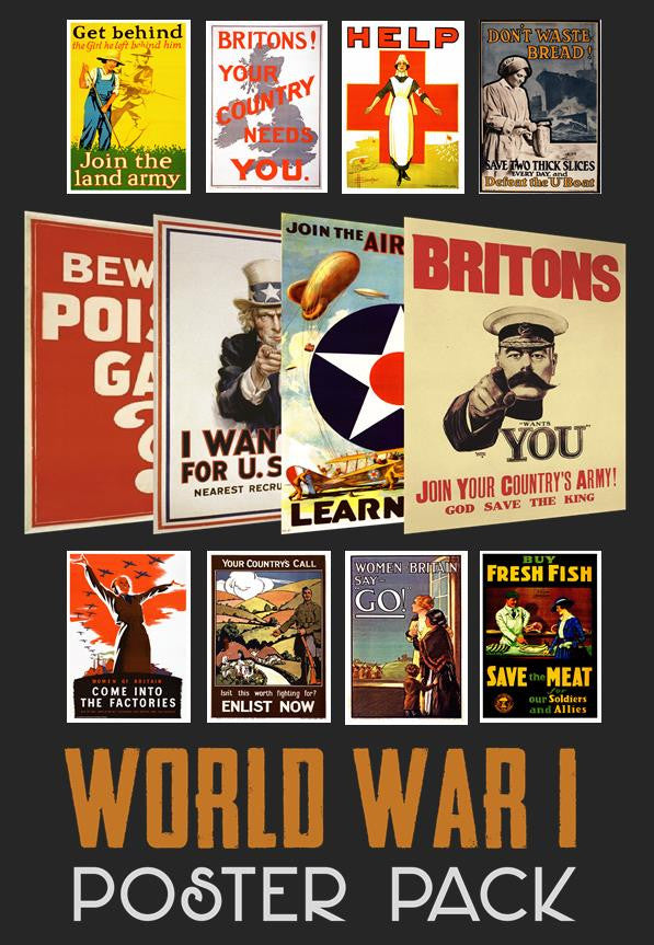 World War 1 Poster Pack (12 Posters)