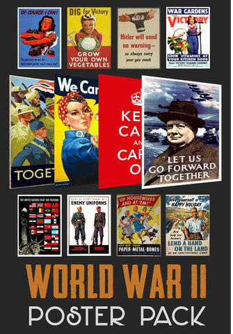World War 2 Poster Pack (12 posters)
