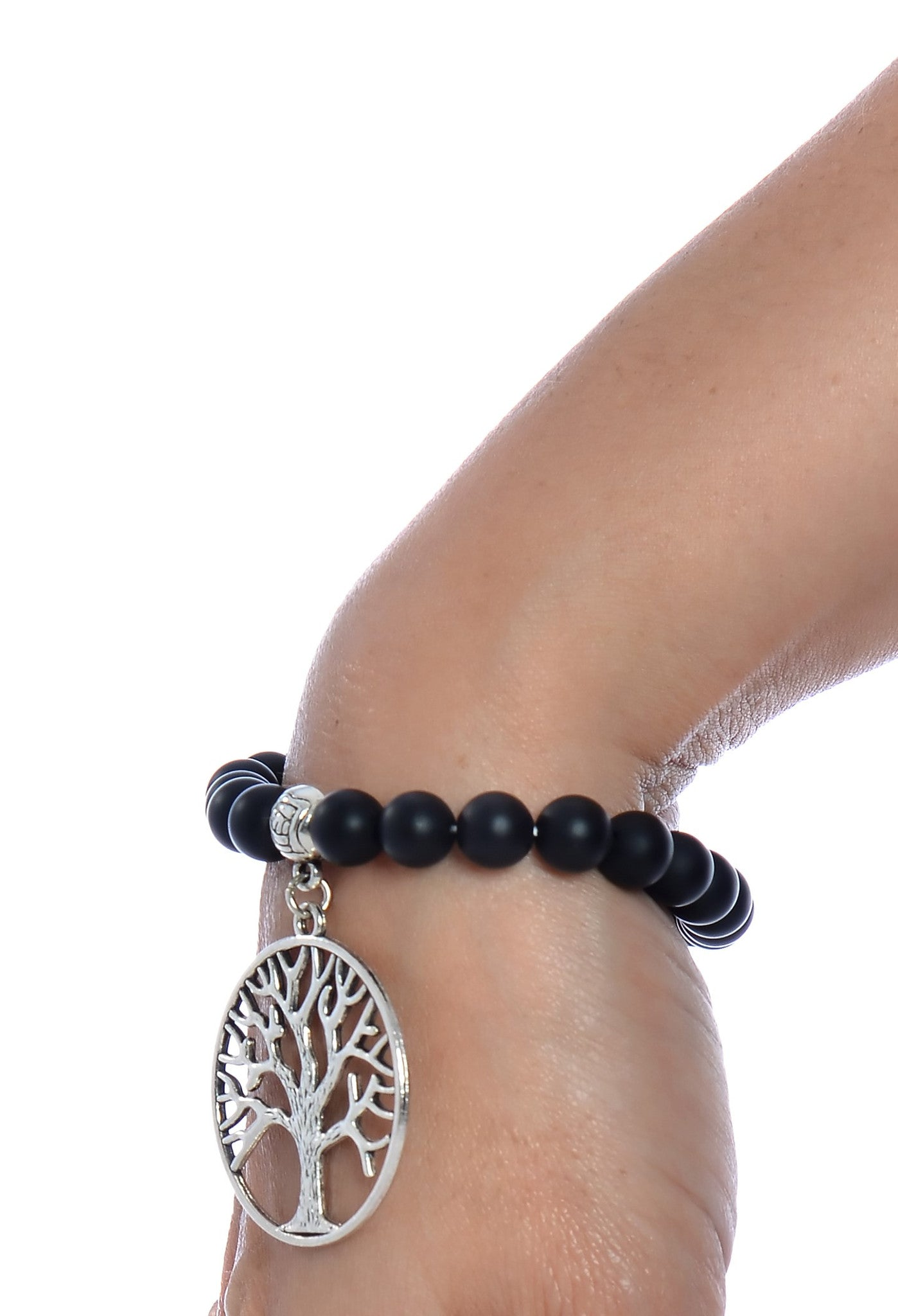 Natural Gemstone Beads Life Tree Stretchable Bracelet