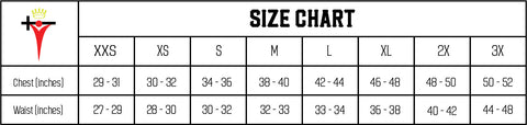 WORDFit Apparel Size Chart
