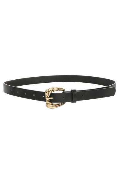 GOLD TEXTURED BUCKLE BELT