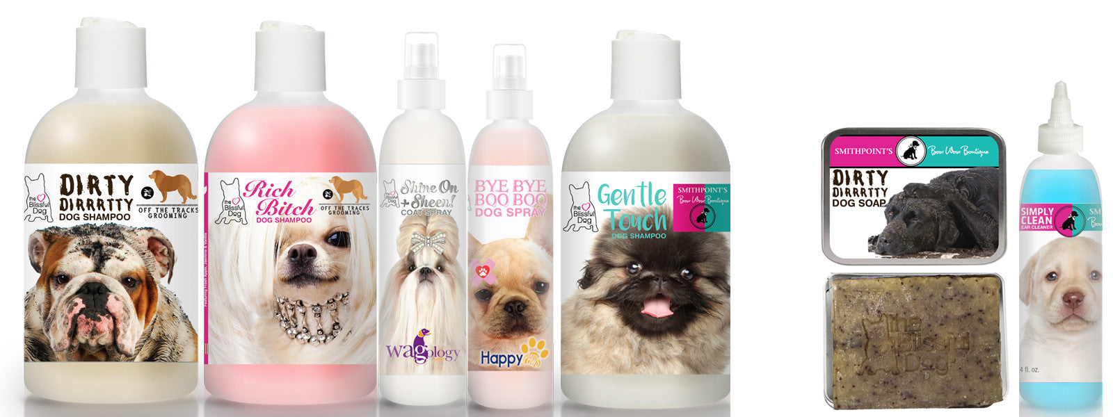 blissfully clean dogs custom labels