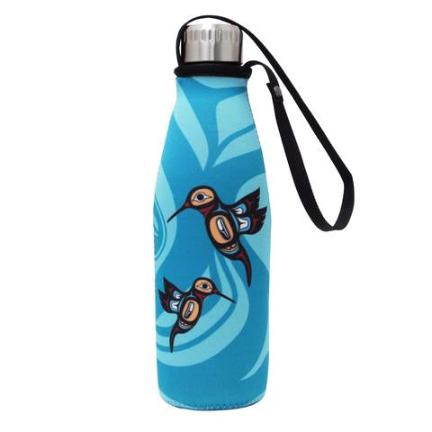 Hummingbird Water Bottle and Sleeve