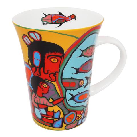 Norval Morrisseau Looking through Portal Porcelain Tea Mug