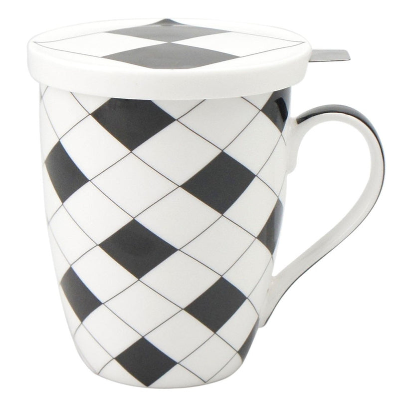 Criss Cross Tea Mug With Infuser