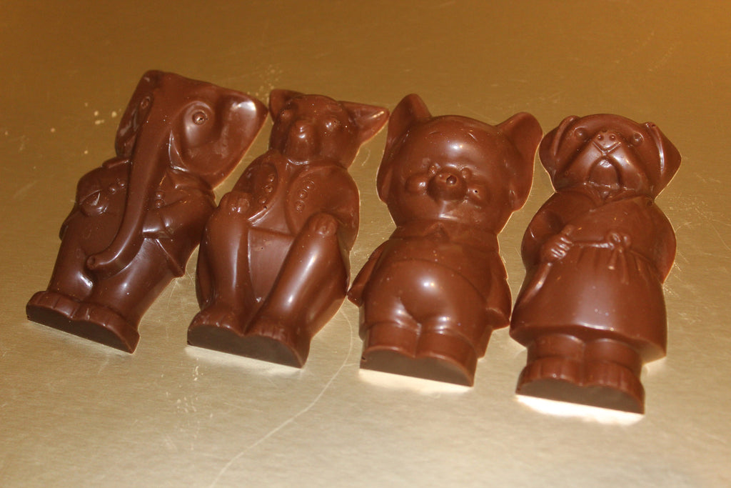 Chocolate Animals In Suits