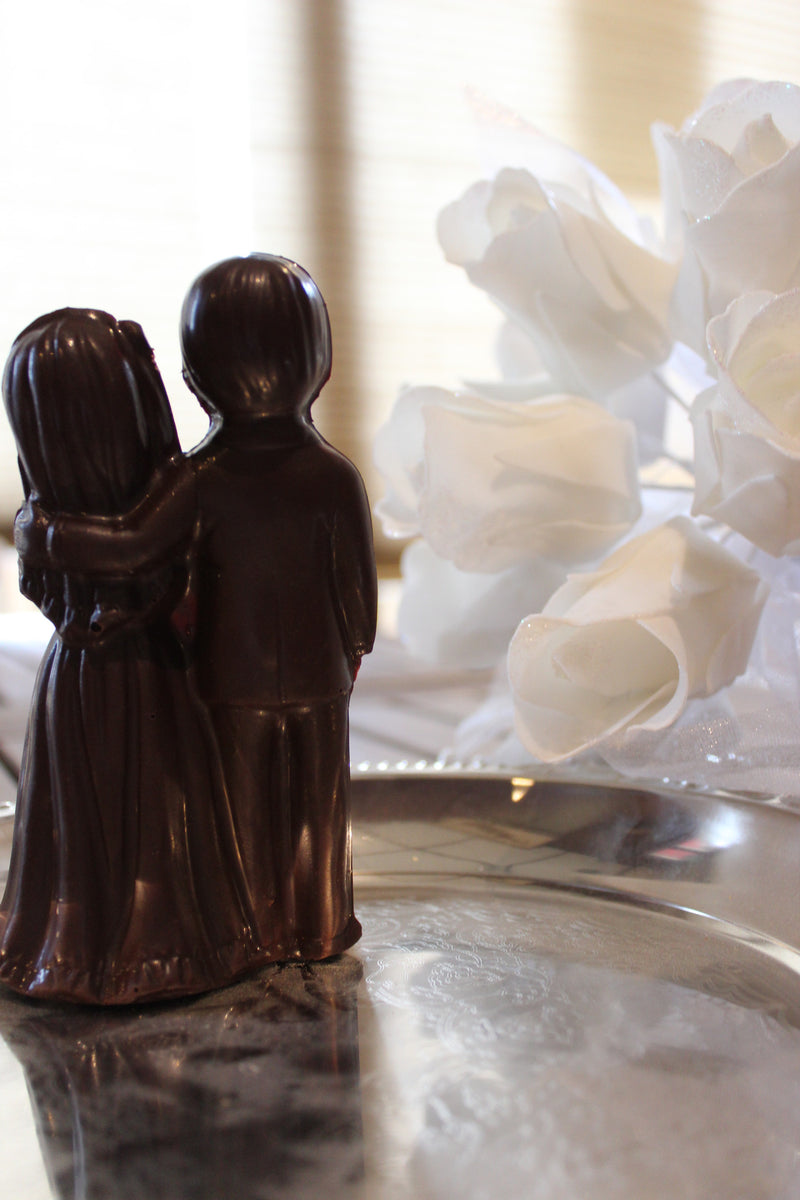 Chocolate Bride and Groom Cake Topper