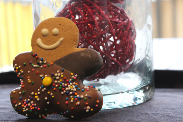 Ginger Bread Man Dipped In Chocolate