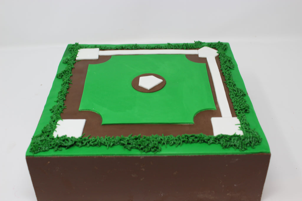 Baseball Diamond Smash Cake