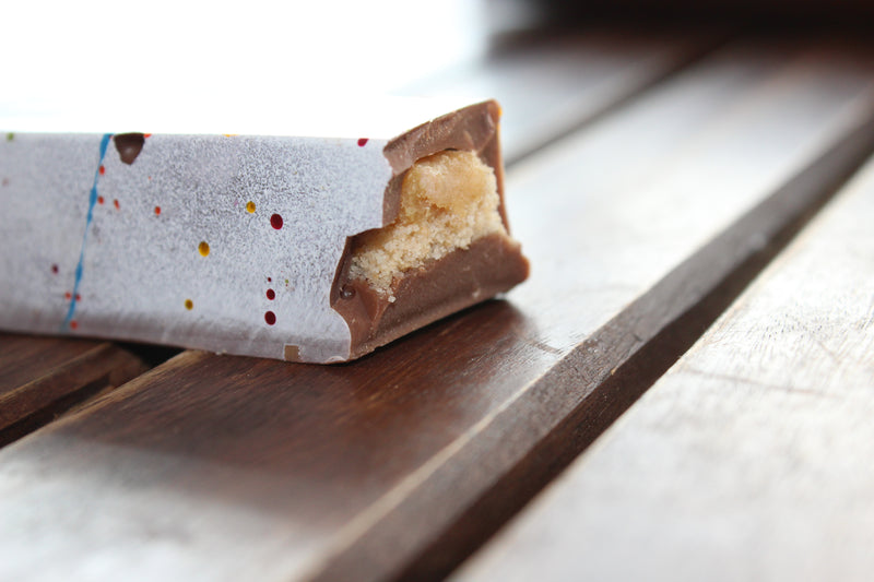 Caramel and Shortbread Chocolate Log