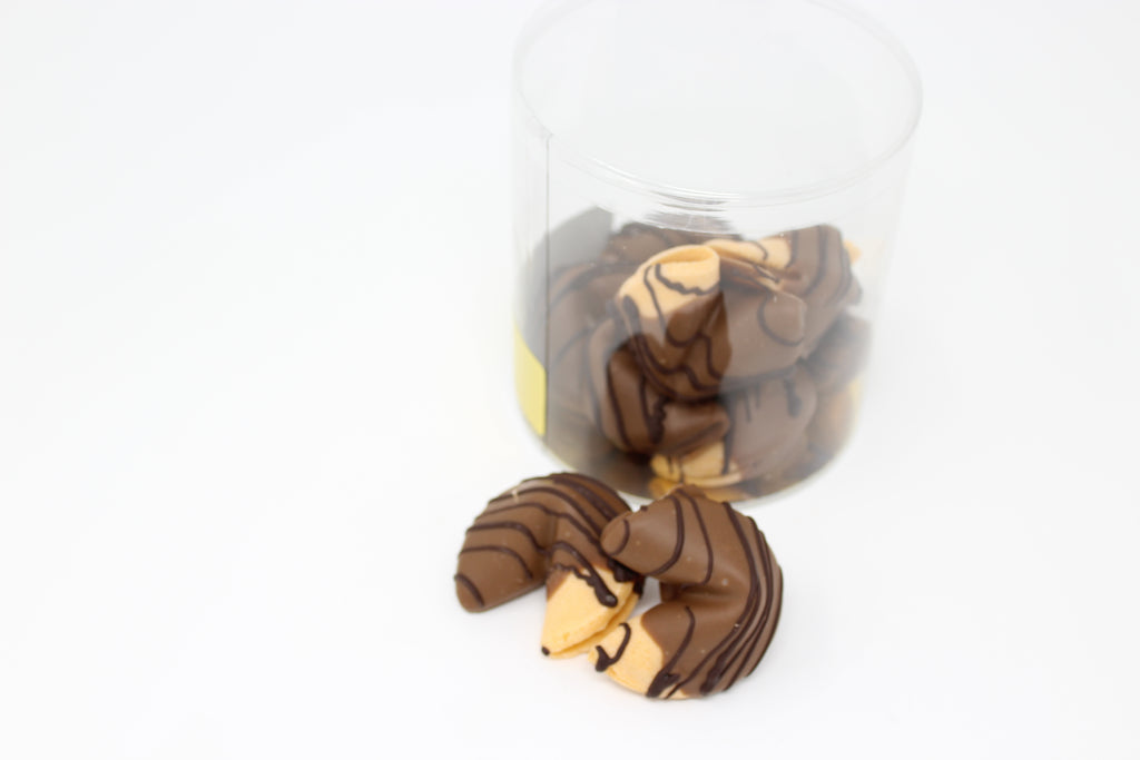 Fortune Cookies Dipped In Chocolate