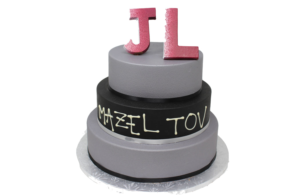 Tiered Smash Cake Black/Silver