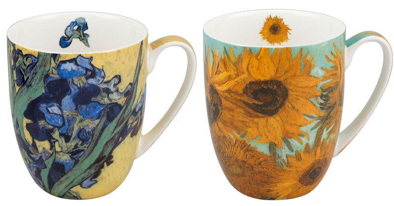 Van Gogh Flowers Tea Mug Set Of 2