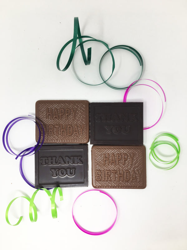 Thank You / Happy Birthday Chocolate Bars