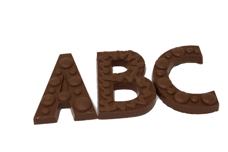 Chocolate Letters and Numbers