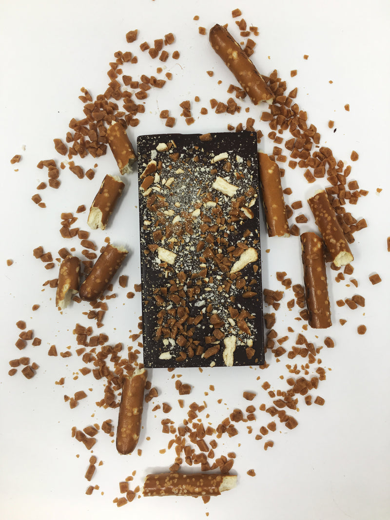 Pretzel and Toffee Chocolate Bar