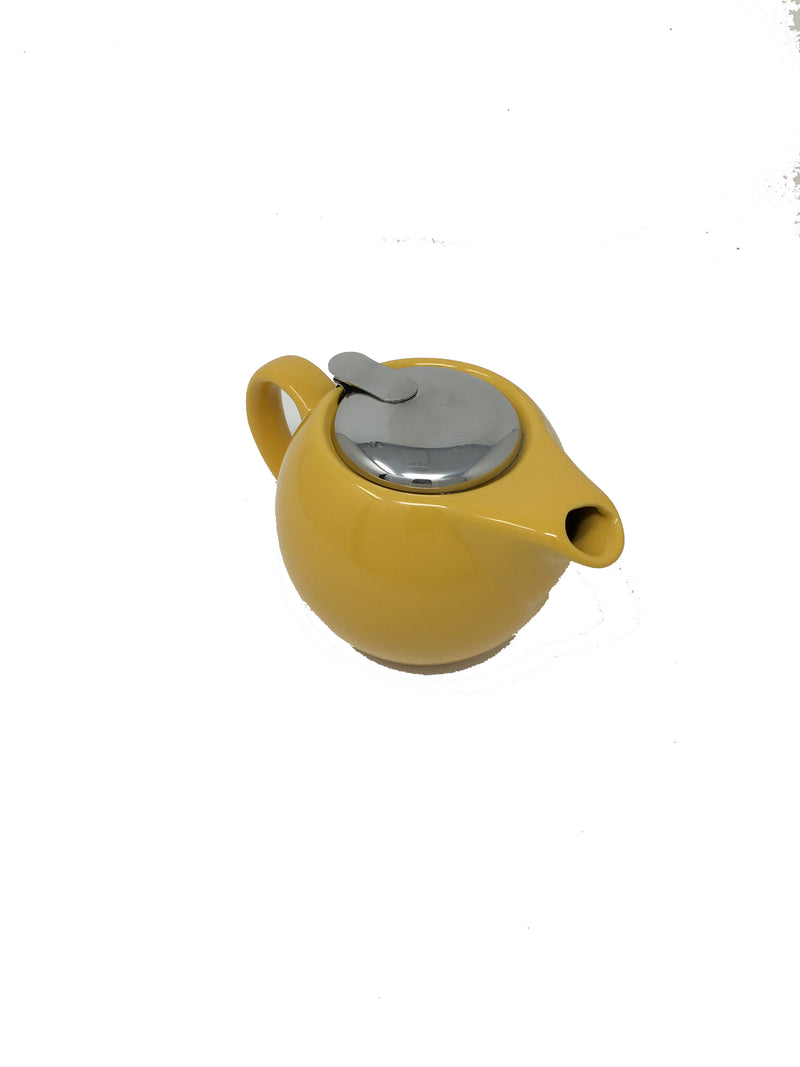 Ceramic 2 Cup Yellow Tea Pot
