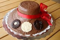 Milk Chocolate Lady Hat
