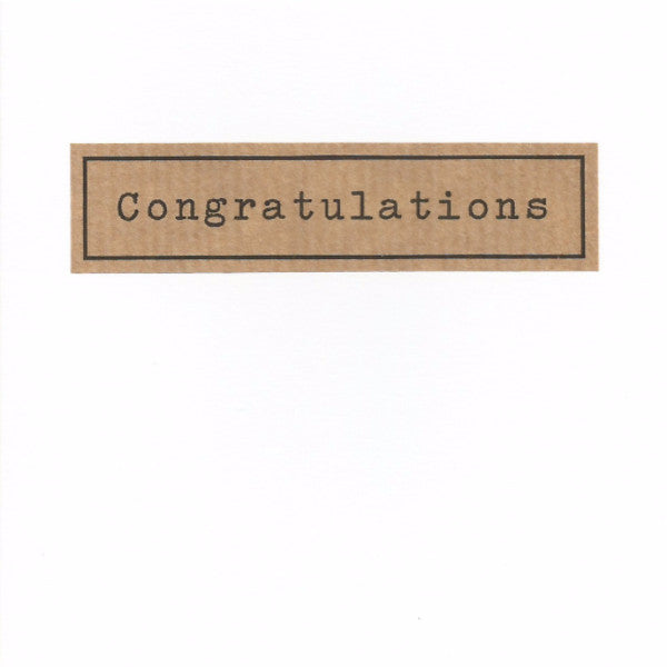 Congratulations - White Card