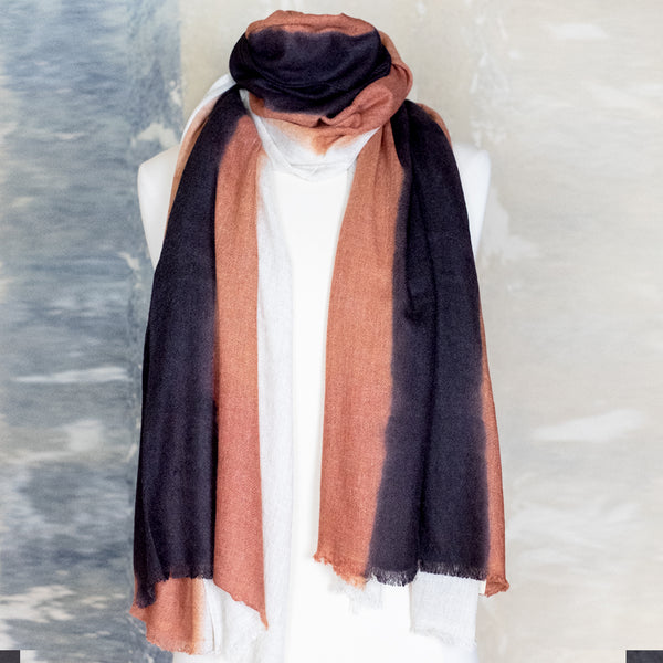 Denovembre / Suite Scarf, Cream/Papaya