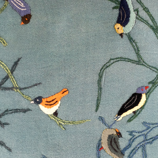 Sophie Digard / Appliqué Birds (Chardon/Greens)