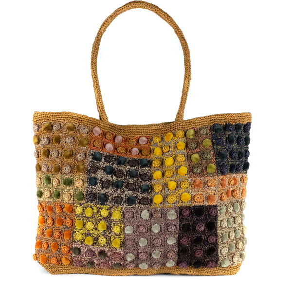 Sophie Digard  / Candy Button Tote, Raffia