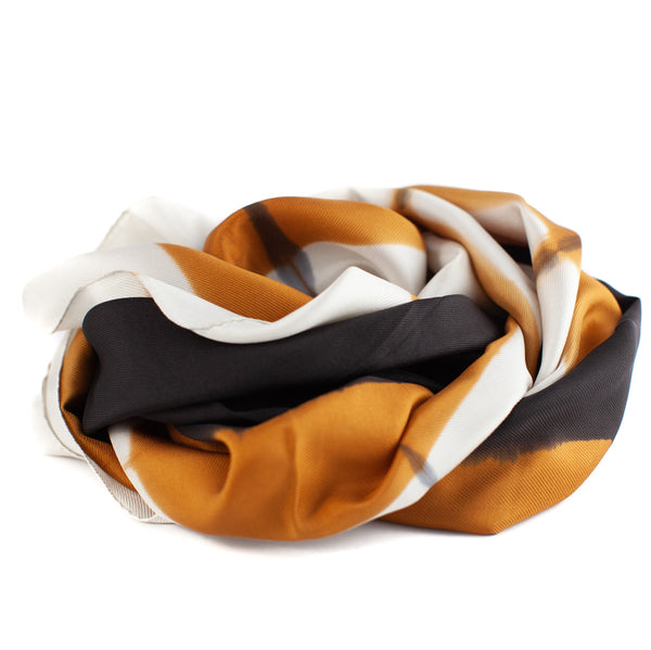 Denovembre / Color Block Scarf, Rust/Black