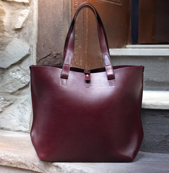 Daniel & Bob / Large Sculptural Tote, Wine