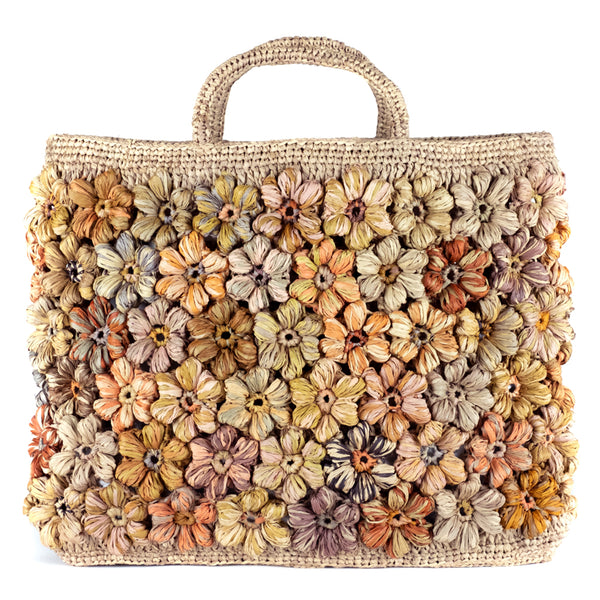 Sophie Digard  / Floral Tapestry Tote, Raffia