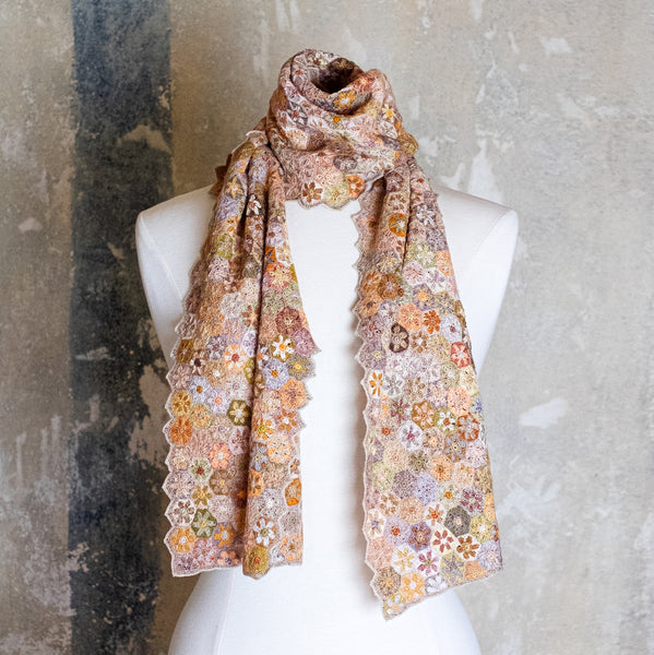 Sophie Digard / Floral Geometric Scarf, Linen