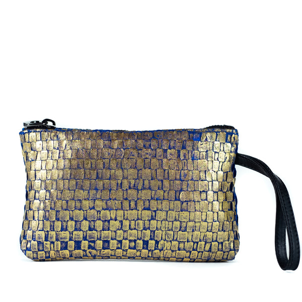 Maria La Rosa / Ribbon Wristlet, Gold Metallic