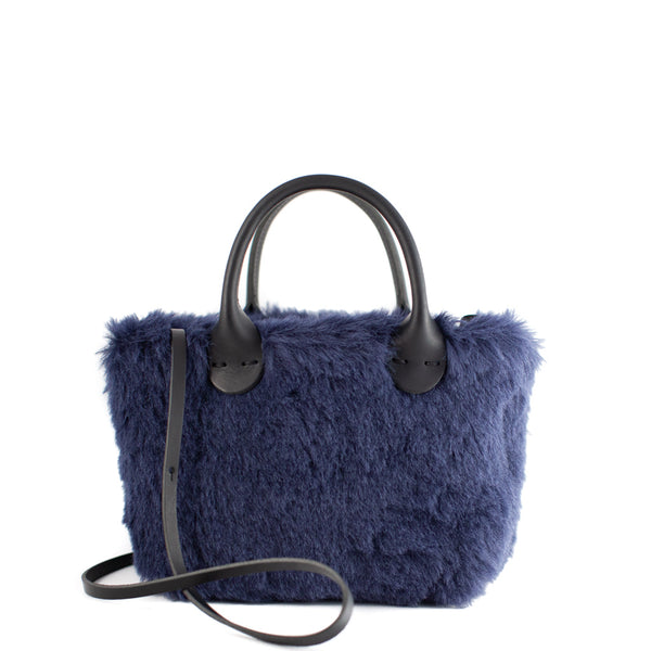 Muuñ / Small Wool Tote, Navy
