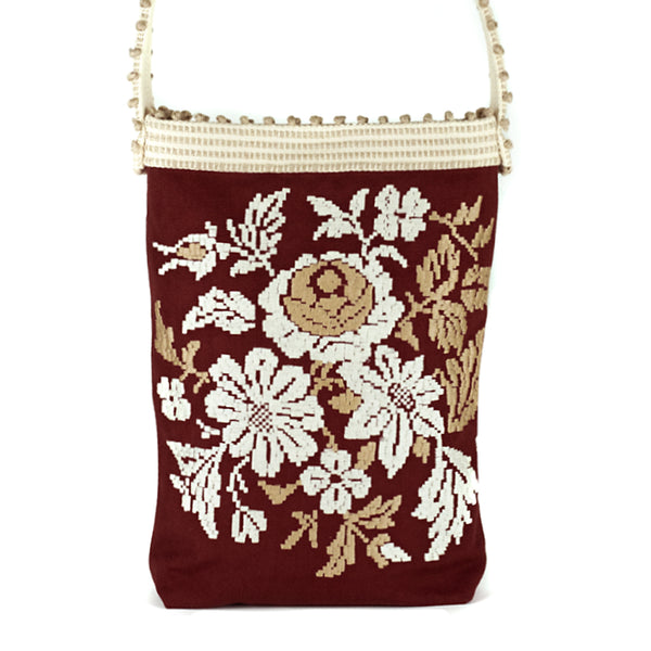 Antonello Tedde  / Embroidered Floral Tote (Exclusive), Russet