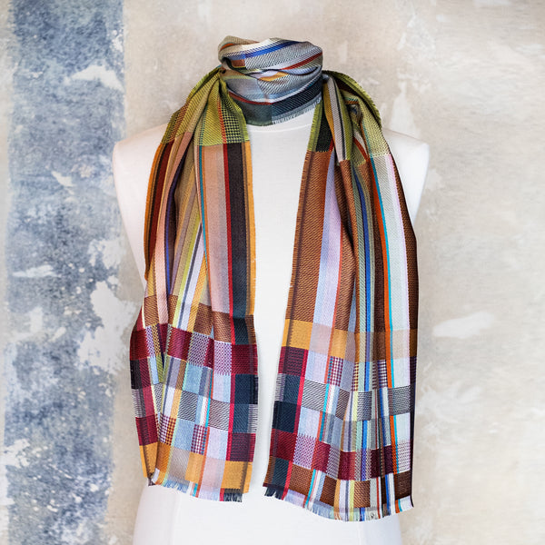 Wallace Sewell / Sandro Silk Scarf, Olive