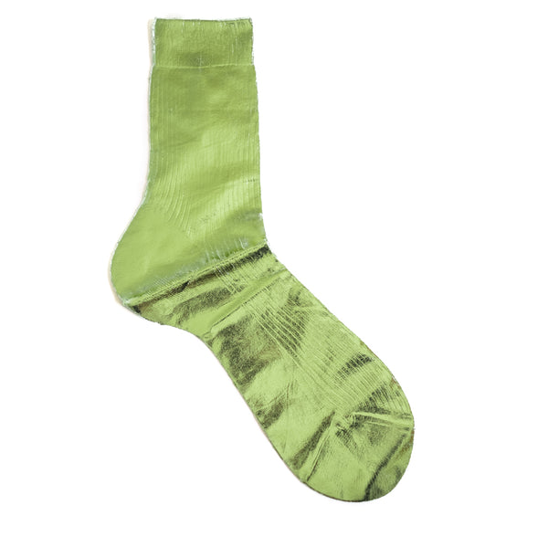 Maria La Rosa / Metallic Sock, Pale Green
