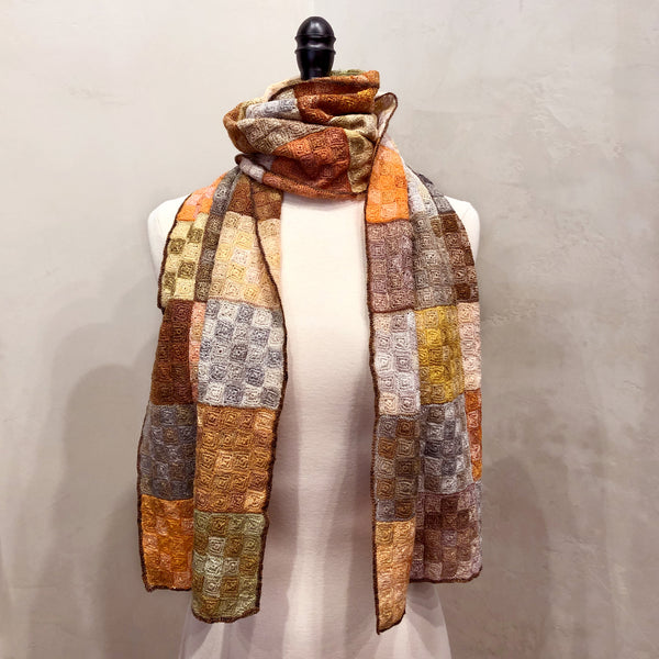 Sophie Digard / Grid Scarf, Linen
