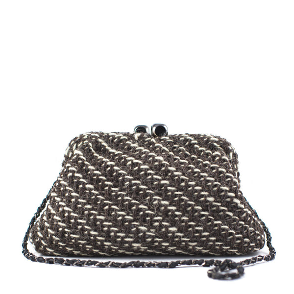 Maria La Rosa / Woven Frame Bag, Brown