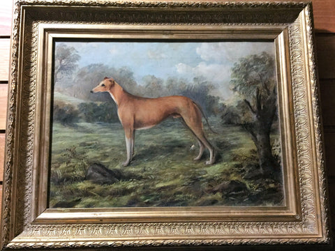 1. Painting - Greyhound early 1900\'s