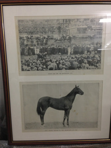 1. Framed - 1922 Melbourne Cup winner - King Ingod