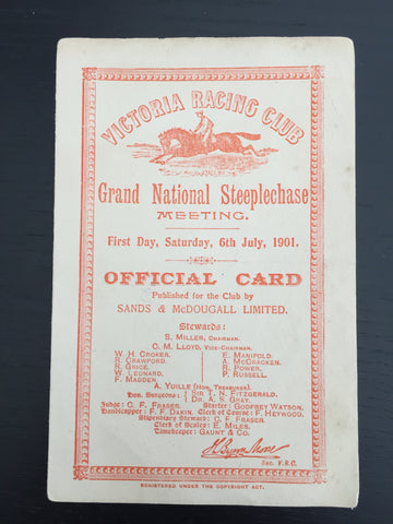 1901 VRC Grand National Steeplechase