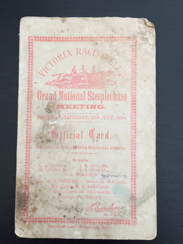 1889 VRC Grand National Steeplechase