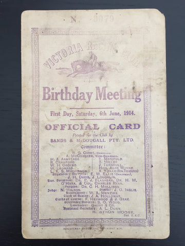 1914 VRC Birthday Meeting