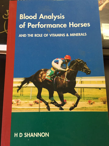 Blood analysis of performance horses